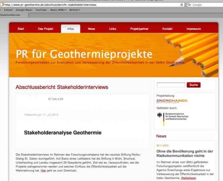 """Wissenschaftlichkeit in Frage gestellt: """"Evaluation der Öffentlichkeitsarbeit für Geothermieprojekte..."""""""