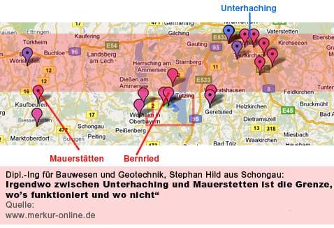 Claims im bayerischen Molassebecken