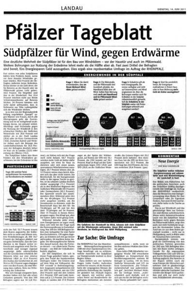 Südpfälzer für Wind, gegen Erdwärme