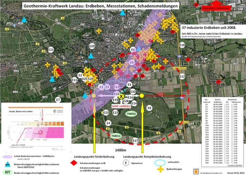 Landau: Seit Inbetriebnahme des GKW 2008 wurden 37 Erdbeben registriert